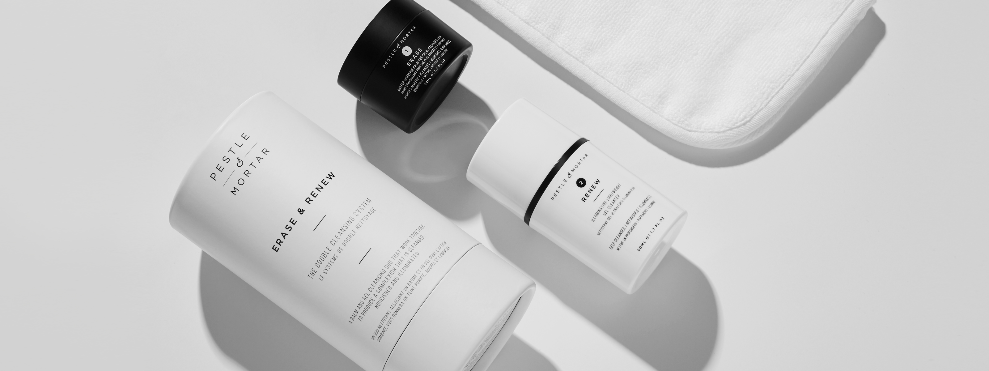 Erase and renew the double cleanse system from pestle and mortar