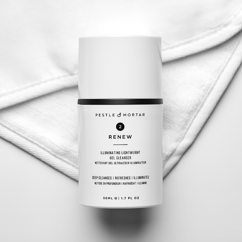 Renew cleansing gel from pestle and mortar